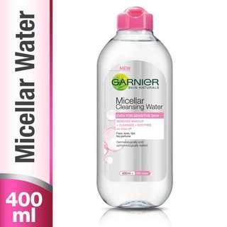 Garnier Micellar Cleansing Water PINK - 400 ml Botol BESAR