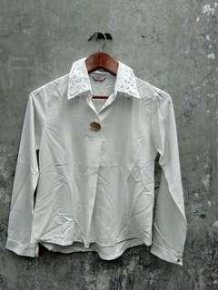 whiterr blouse wanita // blouse putih wanita