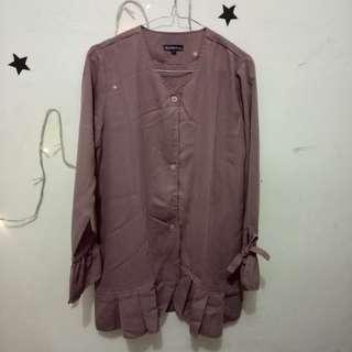 Muchabadres Ruffle Blouse Dark Dusty