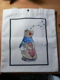 BN Tote Bag - Bear Looking at Stars