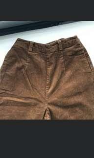 Brown Corduroy Culottes
