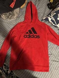 Adidas red hoodie LARGE