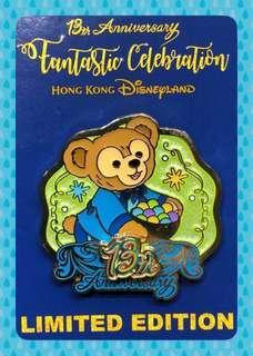 HKDL Pin Trading 香港迪士尼交換徽章 ~~13週年LIMITED EDITION OF 500 Duffy