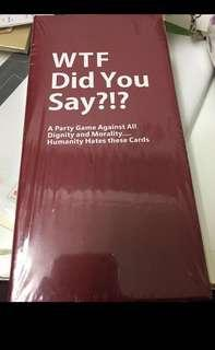 [Instock Soon] Cards against humanity: WTF Did you say?!