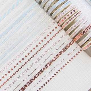 [PO] silver copper foil washi tape