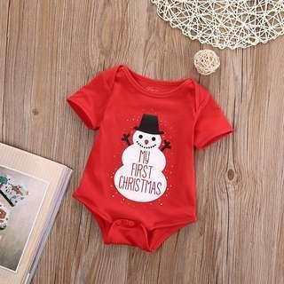 🚚 Instock - my 1st Xmas romper, baby infant toddler girl boy