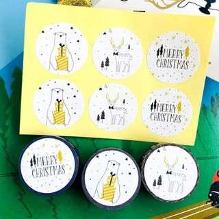 [In stock] Round Christmas Sealing Stickers