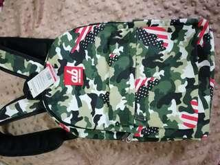 ab New Zealand kids backpack (camo and pink eleph)