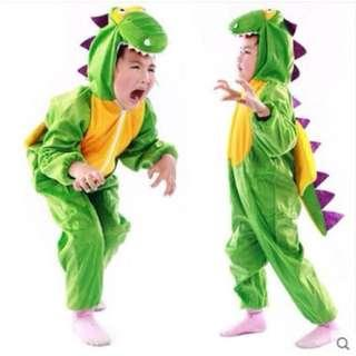 iNSTOCK Green Dinosaur Kid and Adult  Costume* Animal design costume*Halloween party **