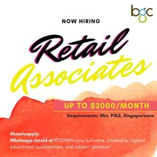 Full-time Retail Associates! | Up to $2000 | Good Benefits!!