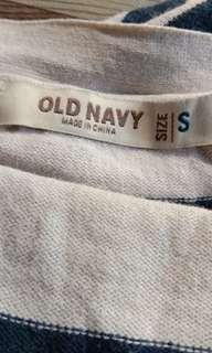 1616 OLD NAVY STRIPED COTTON CARDIGAN (S)