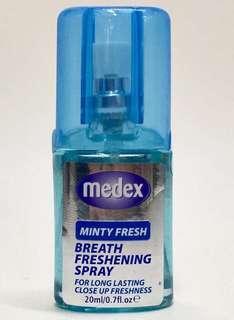 Medex薄荷口氣清新噴霧20毫升便攜裝$20/1支,$36/2支