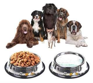 Dog bowl stainless steel pot cat food dog food medium dog