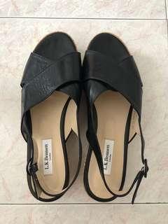 LK Bennett Black leather Cork soles size 41