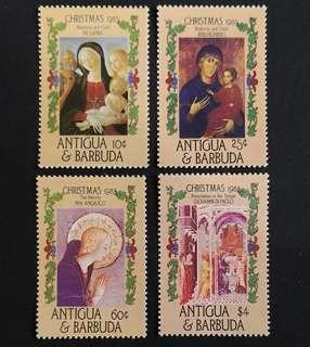 Antigua and Barbuda 1985. Christmas - Religious Paintings complete stamp set