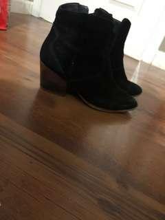Aldo black suede boots