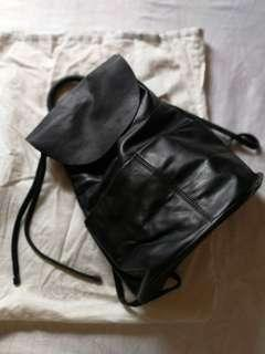 COS Black Leather Backpack