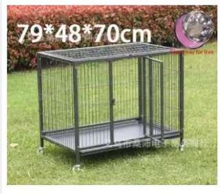 Square tube wire dog house large folding pet cage