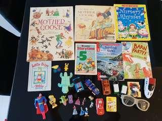 children books and toys