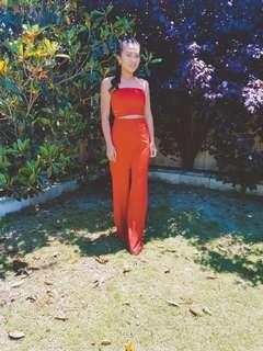 For rent red tube jumpsuit