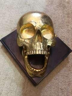 Shotglass/Candleholder Art Display Skull (Gold)