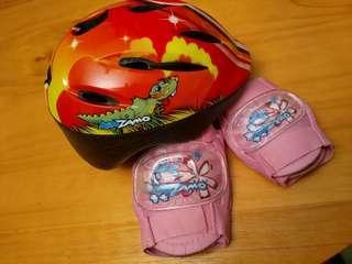 KIDZAMO 兒童頭盔, 護肘, 護膝
