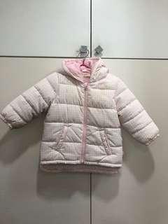 🚚 Benetton baby 粉色女嬰羽絨外套