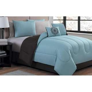 7 Piece Reversible Lightweight Comforter Set (Twin)