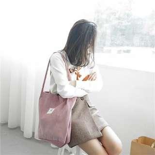 🚚 帆布包包女單肩韓版簡約文藝小清新大容量手提購物袋
