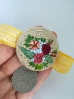 Hair elastic band embroidery flower