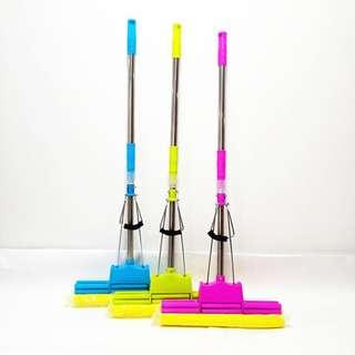 Lazy person retractable household mop does not need hand wash roller type sponge gummy to absorb water mop