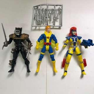 X-MEN 變種特攻 1990 至1991年 TOYBIZ 出品 Set A 共3款 <不設散賣> X-Weapon Wolverine 夜行狙擊版狼人 衝擊波 Havok Jean Grey 靈鳥 Phoenix Marvel Super Heroes