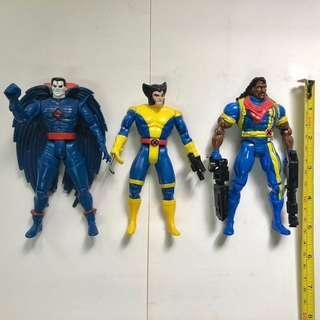 X-MEN 變種特攻 1992 至 1993年 TOYBIZ 出品 Set B 共3款 <不設散賣> 邪悪先生 Mr. Sinister 狼人 Wolverine 盧根 Logan 時空俠 Bishop Marvel Super Heroes