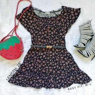 506 || Off Shoulder Floral Dress