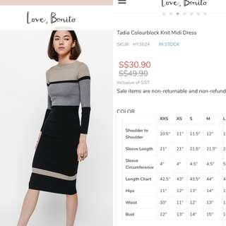 Can nego Preloved Love Bonito tadia Dress