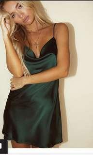 Princess Polly Silk Cowl neck dress