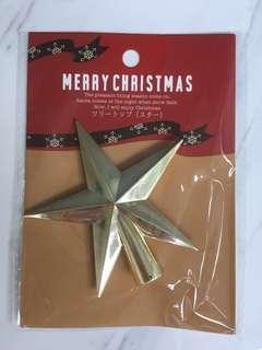 Brand new golden star Christmas tree topper