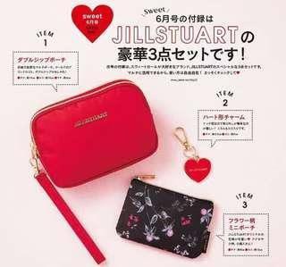 日本雜誌袋 Jill Stuart set of 2 兩件套化裝袋