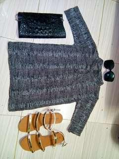 Knitted Acid Gray top