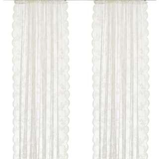 ALVINE SPETS淺乳白色紗簾 2件裝(僅一年/可代清洗)