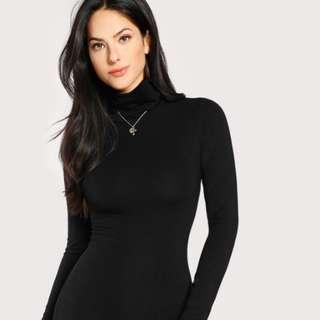 H&M Black Long Sleeve Turtleneck
