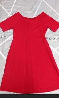 🚚 ZARA紅色洋裝