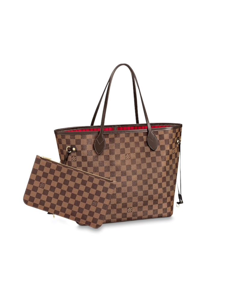 e9a62deac6c 100% Authentic Louis Vuitton Damier Ebene Neverfull MM
