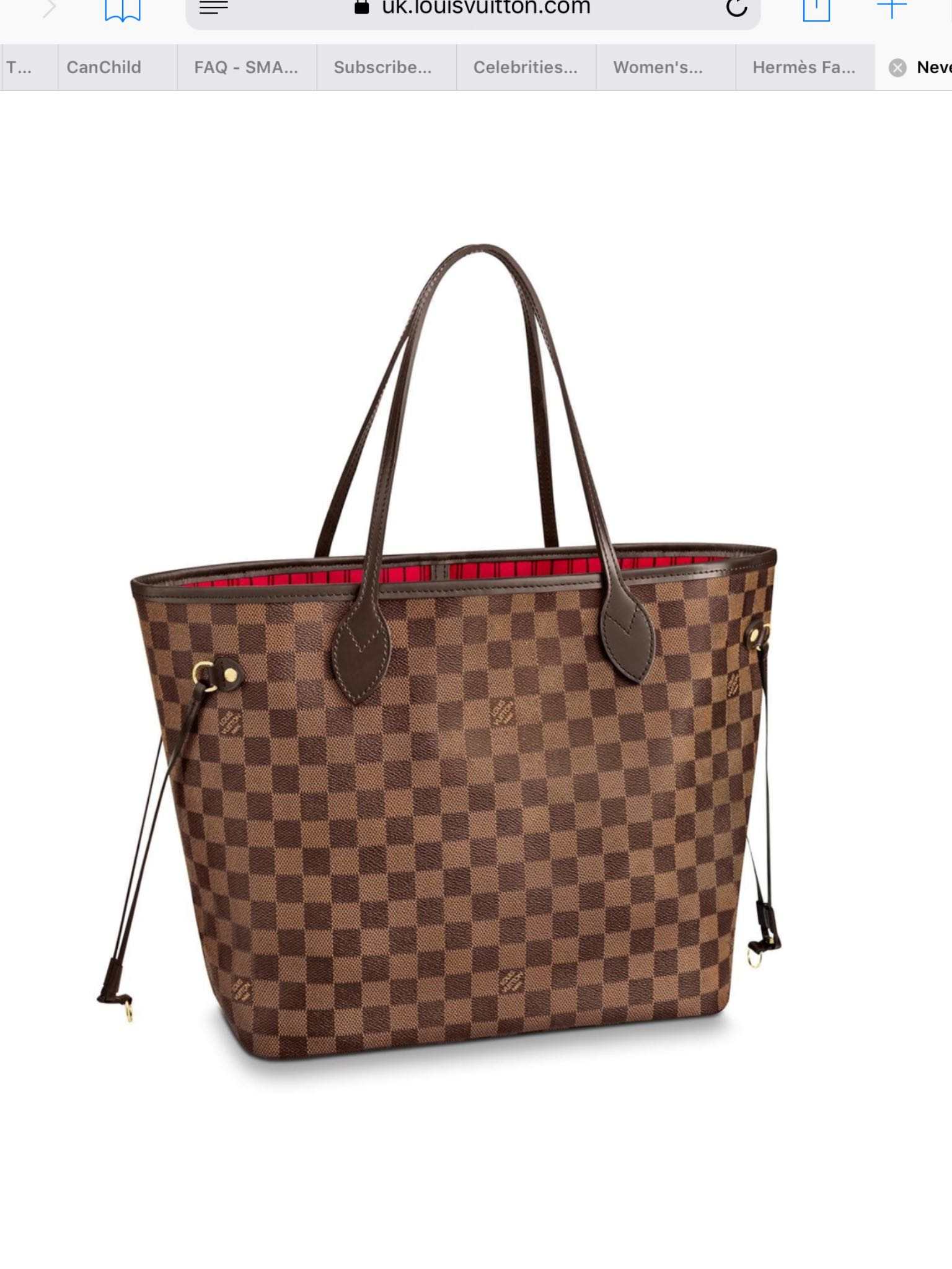 86447c1c4c1c 100% Authentic Louis Vuitton Damier Ebene Neverfull MM