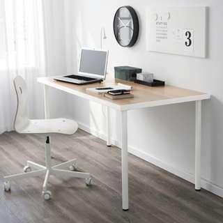 LINNMON / ADILS染白橡木桌子120x60 公分(僅一年)