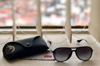 Authentic matte black Ray Ban RB 4201 Alex Sunglasses