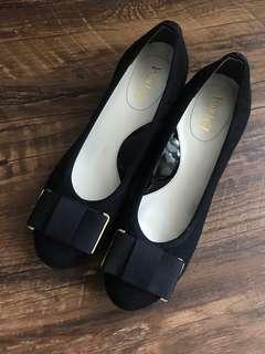 🌟98%new🇯🇵Esperanza black heels 黑色矮踭鞋