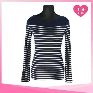 H&M Midnight Blue Striped Long Sleeve