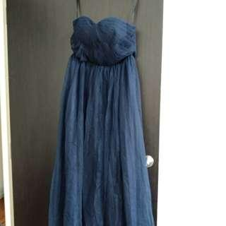 Evening Gown (dark blue) M size.
