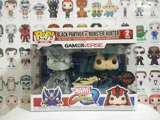 🚚 Funko Pop Black Panther vs Monster Hunter 2 Pack Vinyl Figure Collectible Toy Gift Gamerverse Game Marvel Capcom